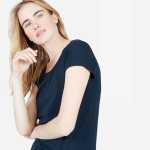 Everlane The Cotton Scoop-Neck Tee in Blue S